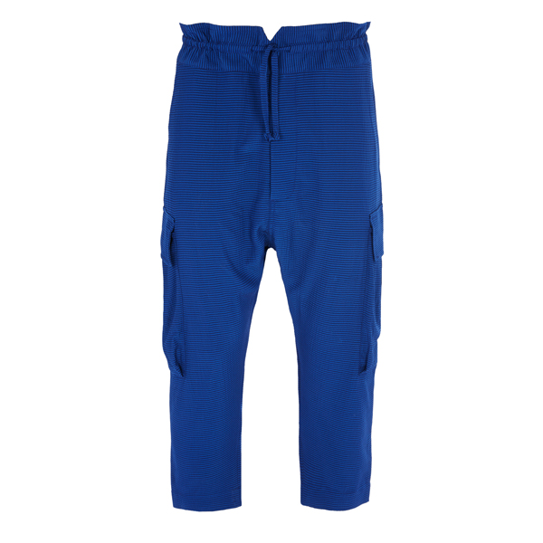 Men Vivienne Westwood SEERSUCKER SAMURAI TROUSERS BLUE Outlet Online
