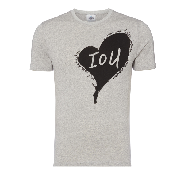 Men Vivienne Westwood HEART T-SHIRT GREY Outlet Online