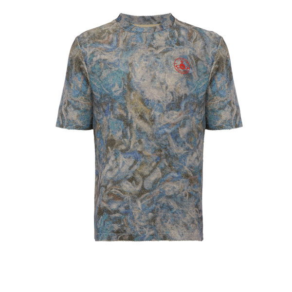 Men Vivienne Westwood MILITARY MESS T-SHIRT BLUE Outlet Online