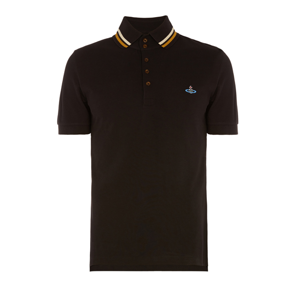 Men Vivienne Westwood KRALL PIQUET POLO SHIRT BLACK Outlet Online