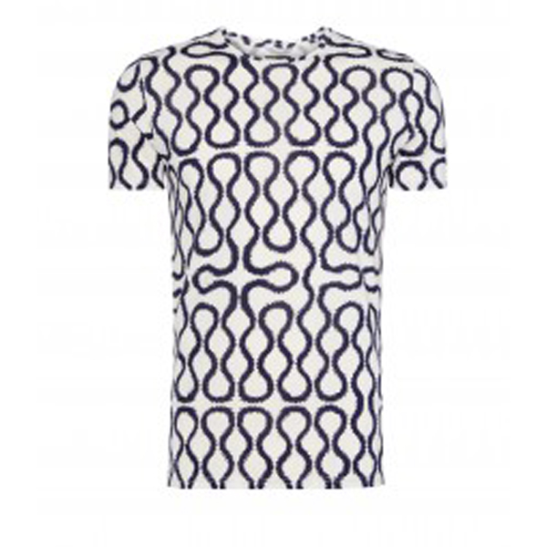 Men Vivienne Westwood NAVY/WHITE SQUIGGLE T-SHIRT Outlet Online