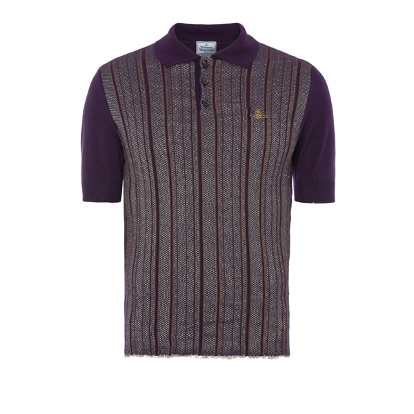 Men Vivienne Westwood SPRING POLO SHIRT PURPLE STRIPES Outlet Online