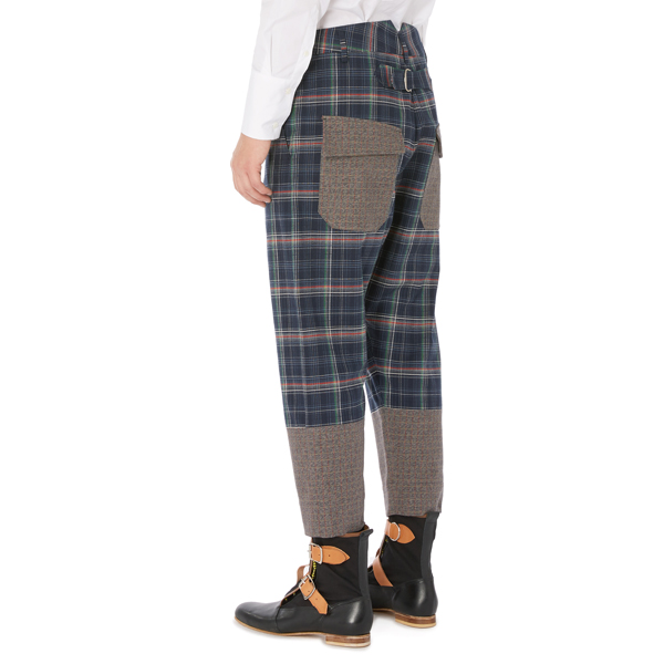 Men Vivienne Westwood O TROUSERS NAVY CHECK Outlet Online