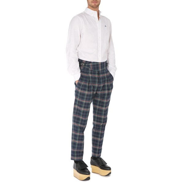 Men Vivienne Westwood NEW CLASSIC TROUSERS NAVY CHECK Outlet Online
