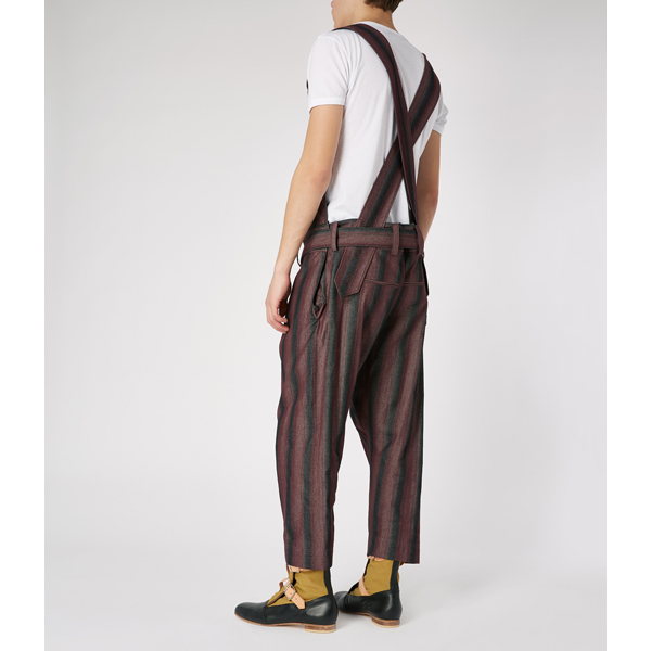 Men Vivienne Westwood UNISEX ASSAULT DUNGAREES BURGUNDY Outlet Online