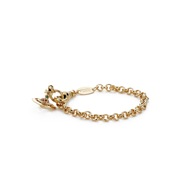 Men Vivienne Westwood NEW PETITE ORB BRACELET GOLD Outlet Online