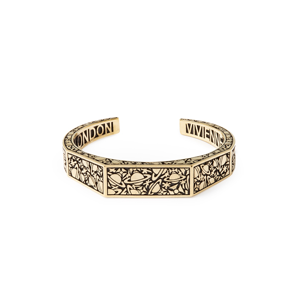Men Vivienne Westwood ANGELO OPEN BANGLE GOLD Outlet Online