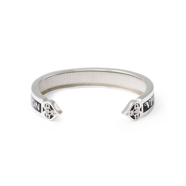 Men Vivienne Westwood STERLING SILVER VEGAS OPEN BANGLE Outlet Online