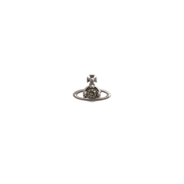 Men Vivienne Westwood BLACK NANO SOLITAIRE SINGLE STUD Outlet Online