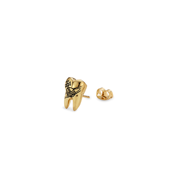 Men Vivienne Westwood BLAKE SINGLE STUD GOLD Outlet Online