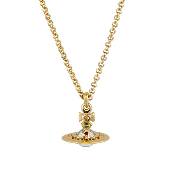 Men Vivienne Westwood NEW TINY ORB PENDANT GOLD Outlet Online