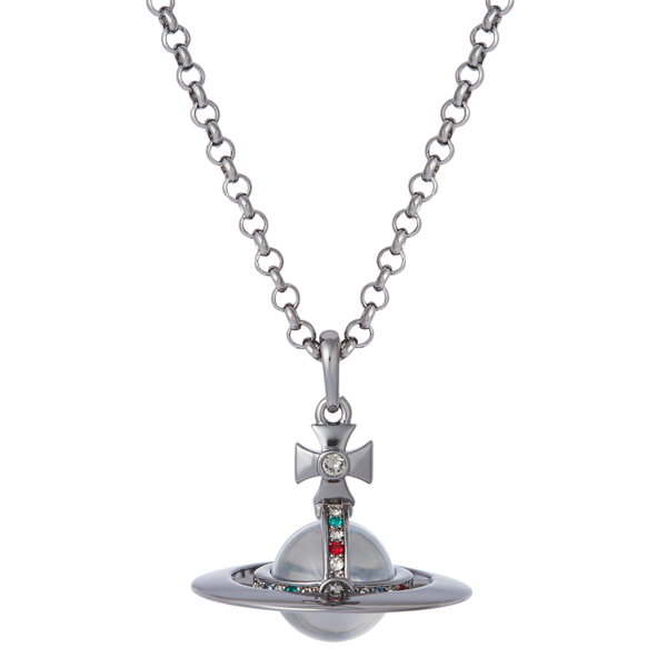 Men Vivienne Westwood GUNMETAL NEW SMALL ORB PENDANT Outlet Online