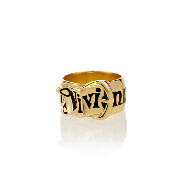 Men Vivienne Westwood GOLD BELT RING Outlet Online