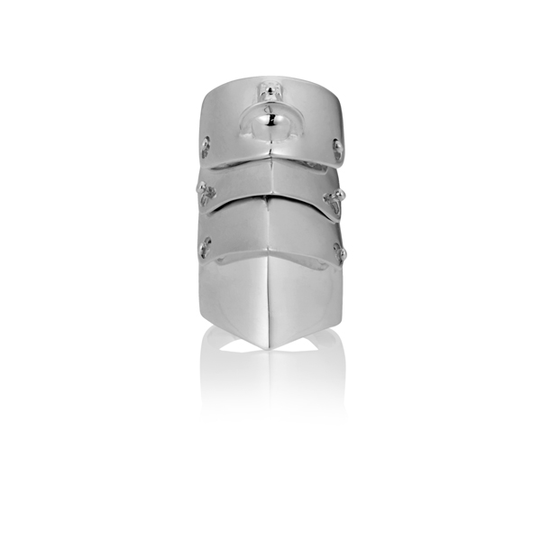 Men Vivienne Westwood ARMOUR RING SILVER Outlet Online