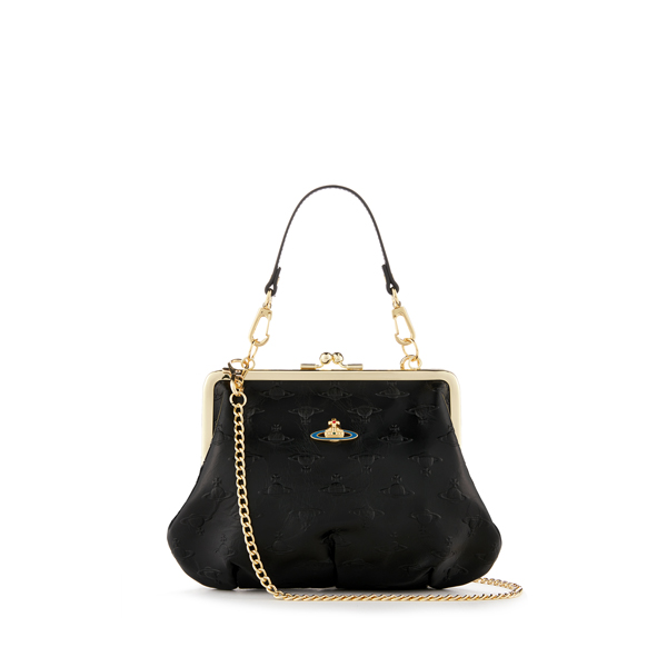 Women Vivienne Westwood SMALL ORBS BAG 3655 BLACK Outlet Online