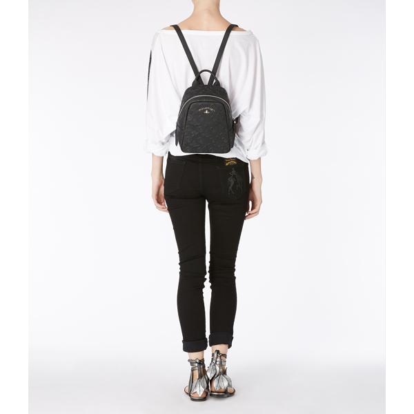 Women Vivienne Westwood SMALL CHILHAM RUCKSACK 190008 BLACK Outlet Online