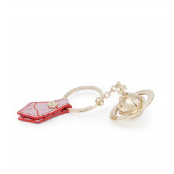 Women Vivienne Westwood GOLD ORB KEY RING 321491 PINK Outlet Online