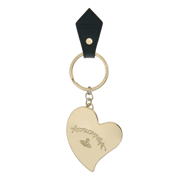 Women Vivienne Westwood HEART KEY RING 390035 BLACK Outlet Online