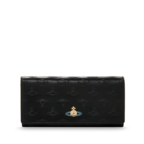 Women Vivienne Westwood ORBS PURSE 2800 BLACK Outlet Online