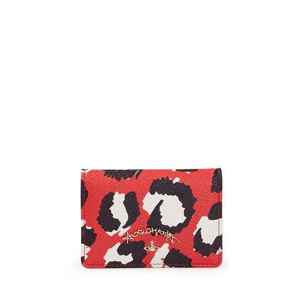 Women Vivienne Westwood SMALL LEICESTER CREDIT CARD HOLDER 390001 RED Outlet Online