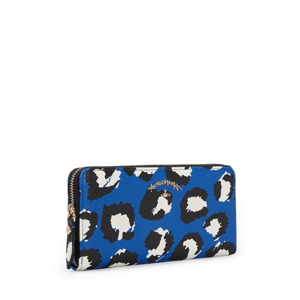 Women Vivienne Westwood LEICESTER ZIP ROUND PURSE 390005 BLUE Outlet Online