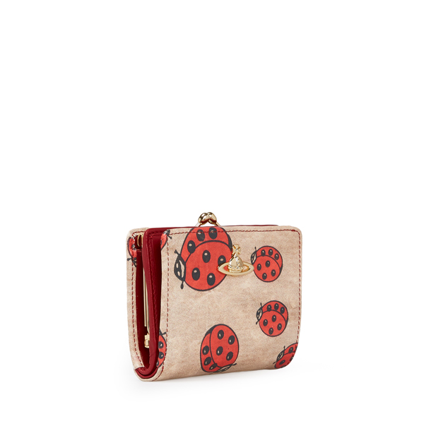 Women Vivienne Westwood HOLLAND WALLET WITH COIN POCKET 321419 RED Outlet Online