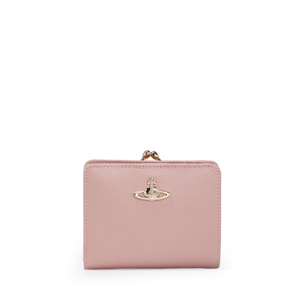 Women Vivienne Westwood OPIO SAFFIANO WALLET WITH COIN POCKET 321402 PINK Outlet Online