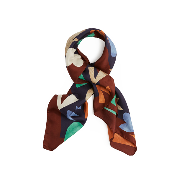 Women Vivienne Westwood YSL SQUARE SCARF NAVY Outlet Online