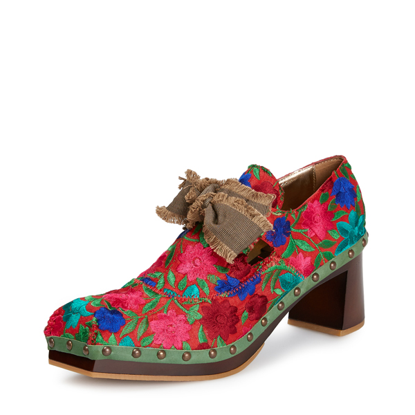 Women Vivienne Westwood TITANIA CLOGS RED/GREEN Outlet Online