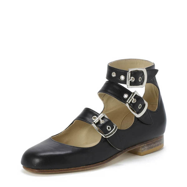 Women Vivienne Westwood ROMAN THREE STRAPS BLACK Outlet Online