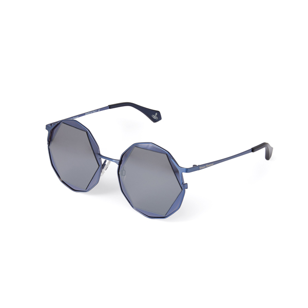 Women Vivienne Westwood BLUE HEXAGON SUNGLASSES VW938S1BGS Outlet Online
