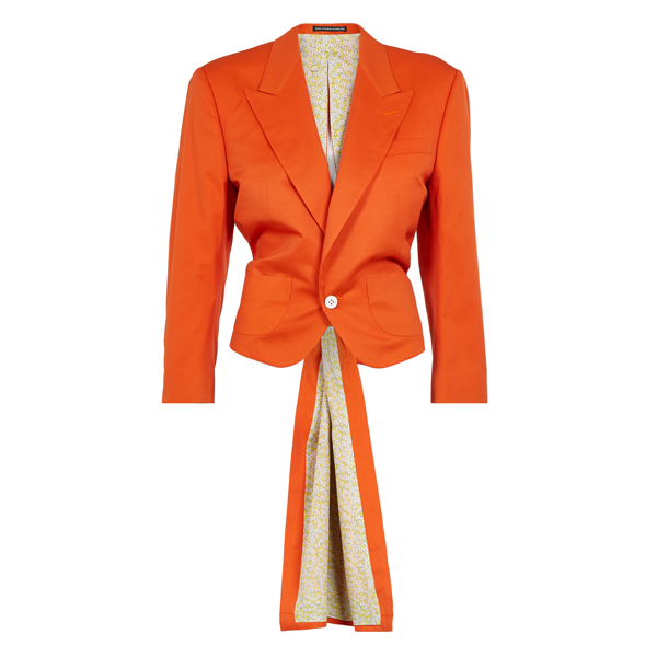 Women Vivienne Westwood BERTRAM TAILCOAT ORANGE Outlet Online