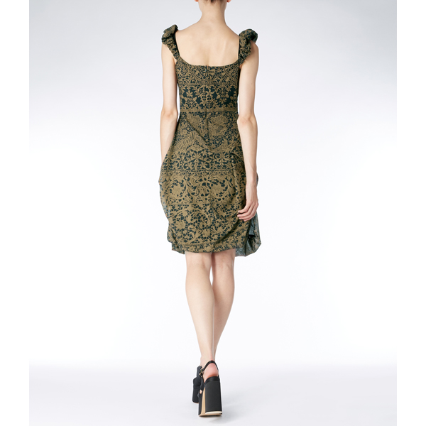Women Vivienne Westwood BUBBLE LONG DRESS GOLD Outlet Online