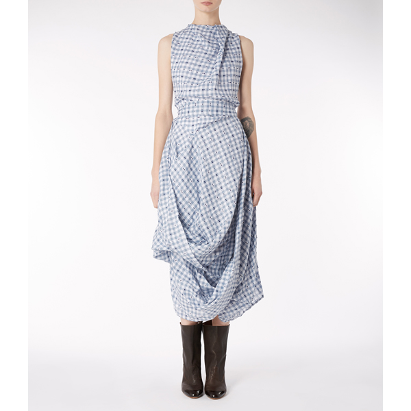 Women Vivienne Westwood CHECK EIGHT DRESS Outlet Online