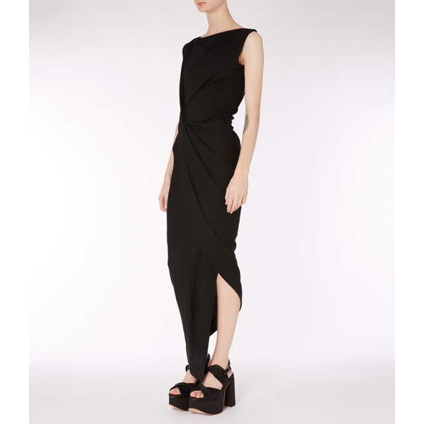 Women Vivienne Westwood BLACK VIAN DRESS Outlet Online