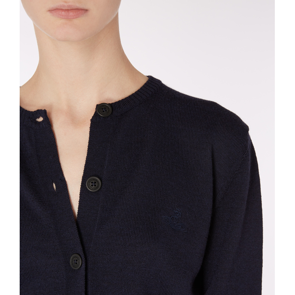 Women Vivienne Westwood NAVY CLASSIC CARDIGAN Outlet Online