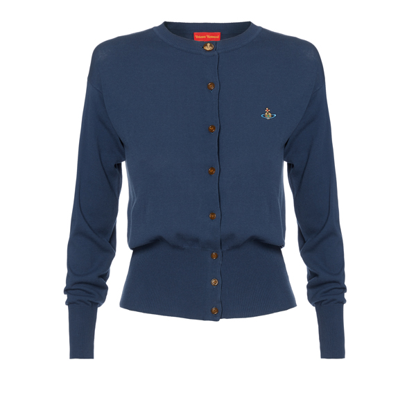Women Vivienne Westwood CLASSIC CARDIGAN NAVY Outlet Online