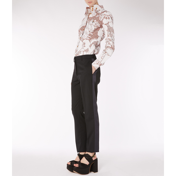 Women Vivienne Westwood KRALL SHIRT WHITE PRINT Outlet Online