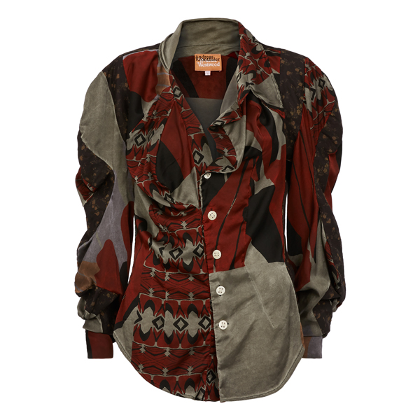 Women Vivienne Westwood MULTICOLOURED MEDUSA BLOUSE Outlet Online
