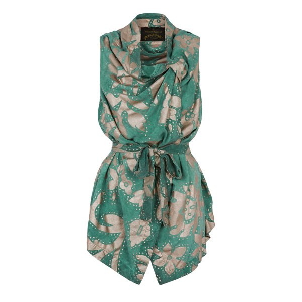 Women Vivienne Westwood GREEN SQUARE BLOUSE Outlet Online