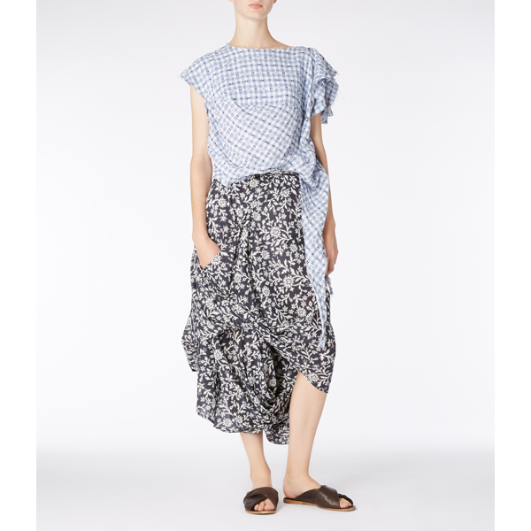 Women Vivienne Westwood CHECK BALLOON BLOUSE Outlet Online