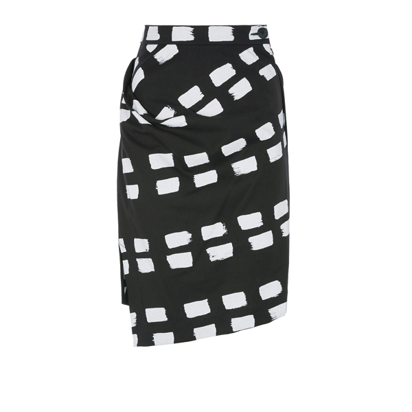 Women Vivienne Westwood ACCIDENT SKIRT BLACK WITH DASHES Outlet Online