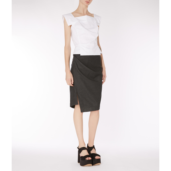 Women Vivienne Westwood GREY ACCIDENT SKIRT Outlet Online