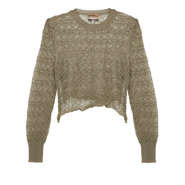Women Vivienne Westwood TIZER CROP TOP TAUPE Outlet Online