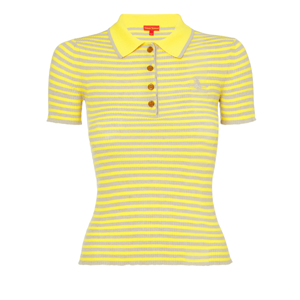 Women Vivienne Westwood BOWIE POLO YELLOW Outlet Online