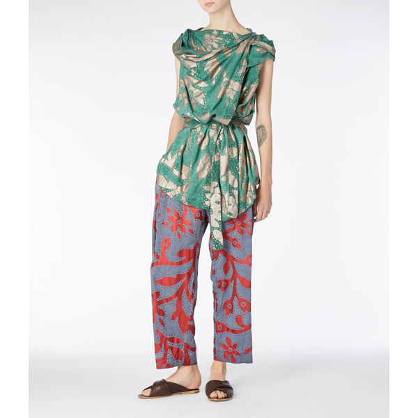 Women Vivienne Westwood RED/BLUE ELISA TROUSERS Outlet Online