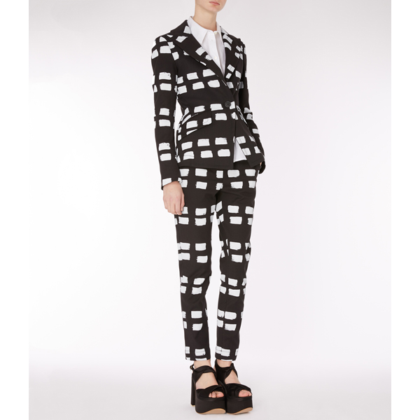 Women Vivienne Westwood NEW MOKI TROUSERS BLACK WITH DASHES Outlet Online