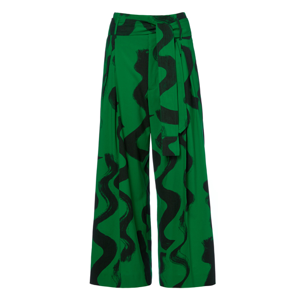 Women Vivienne Westwood OXFORD TROUSERS SQUIGGLE PRINT Outlet Online