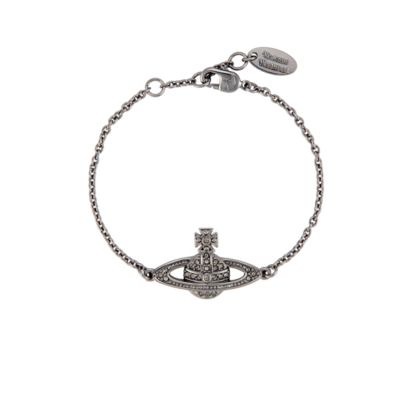 Women Vivienne Westwood MINI BAS RELIEF BRACELET BLACK DIAMOND Outlet Online