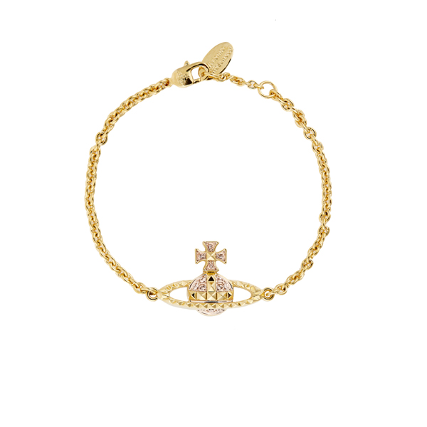 Women Vivienne Westwood MAYFAIR BAS RELIEF BRACELET ROSE GOLD Outlet Online